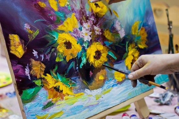 На чем можно рисовать маслянной краской